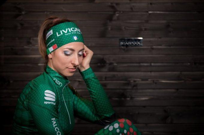 L'atleta azzurra Lisa Vittozzi astro nascente del biathlon legata allo sponsor Starpool