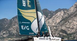 Team Oman Air supported by EFG Private Bank Monaco arriva al GC32 Racing Tour con Adam Minoprio al timone. Foto: Lloyd Images.