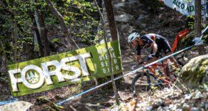 Manuel Fumic impegnato nella prova percorso del Marlene Südtirol Sunshine Race 2019 (Credits: Michele Mondini)
