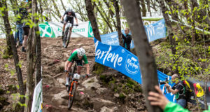 Il Campione Italiano Gerhard Kerschbaumer in azione al Marlene Südtirol Sunshine Race 2018 - (Credits: Michele Mondini)