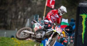 Matteo Guadagnini in trionfo ad Arco di Trento nella tappa dell'EMX125 (Ph. MXGP)